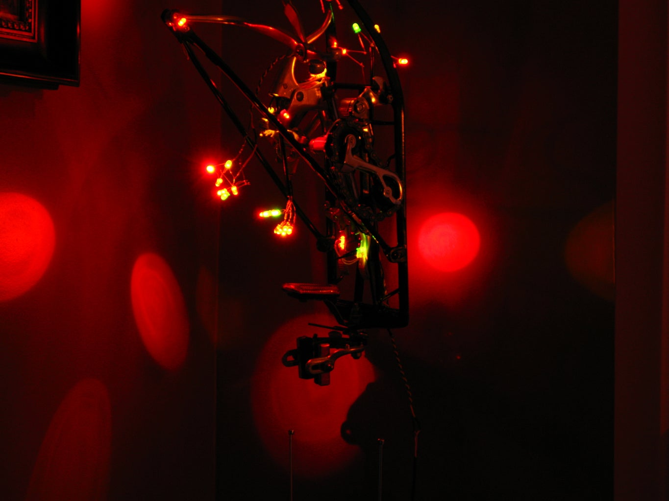 LED Bicycle Lamp Sculpture