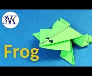 How to Make a Jumping Paper Frog?