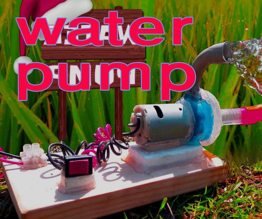 How to Make Powerful Mini Water Pump   Amazing Homemade Mini Pump