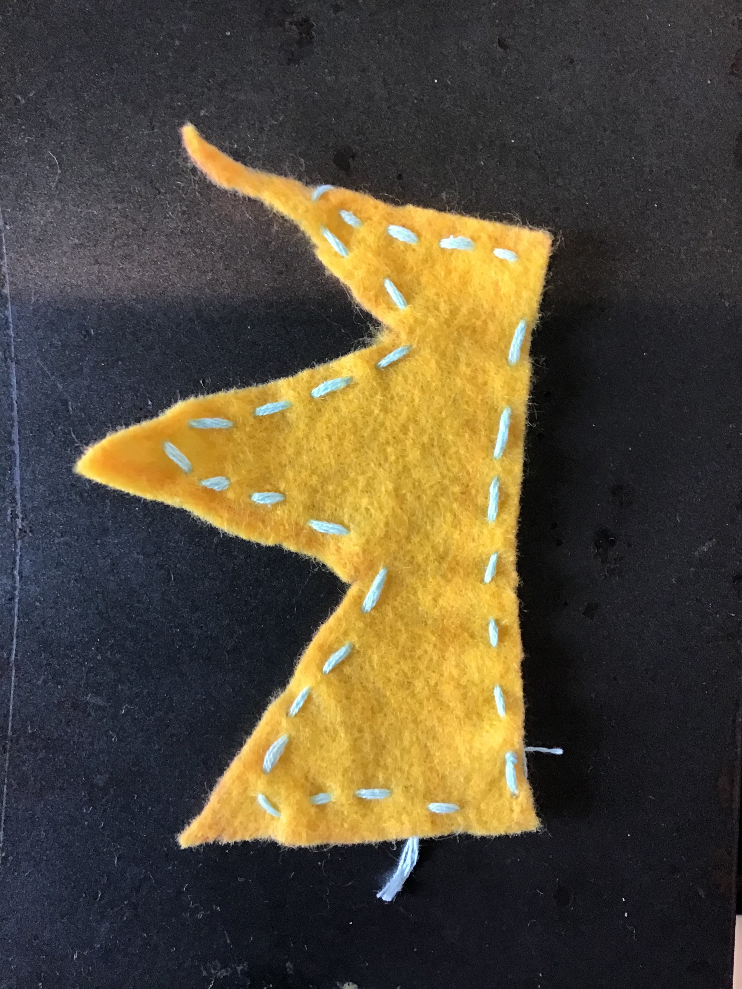 Sewing the Running Stitch