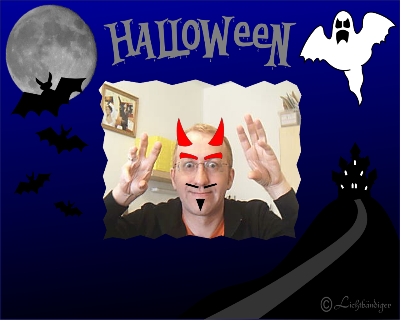interactive Halloween mirror