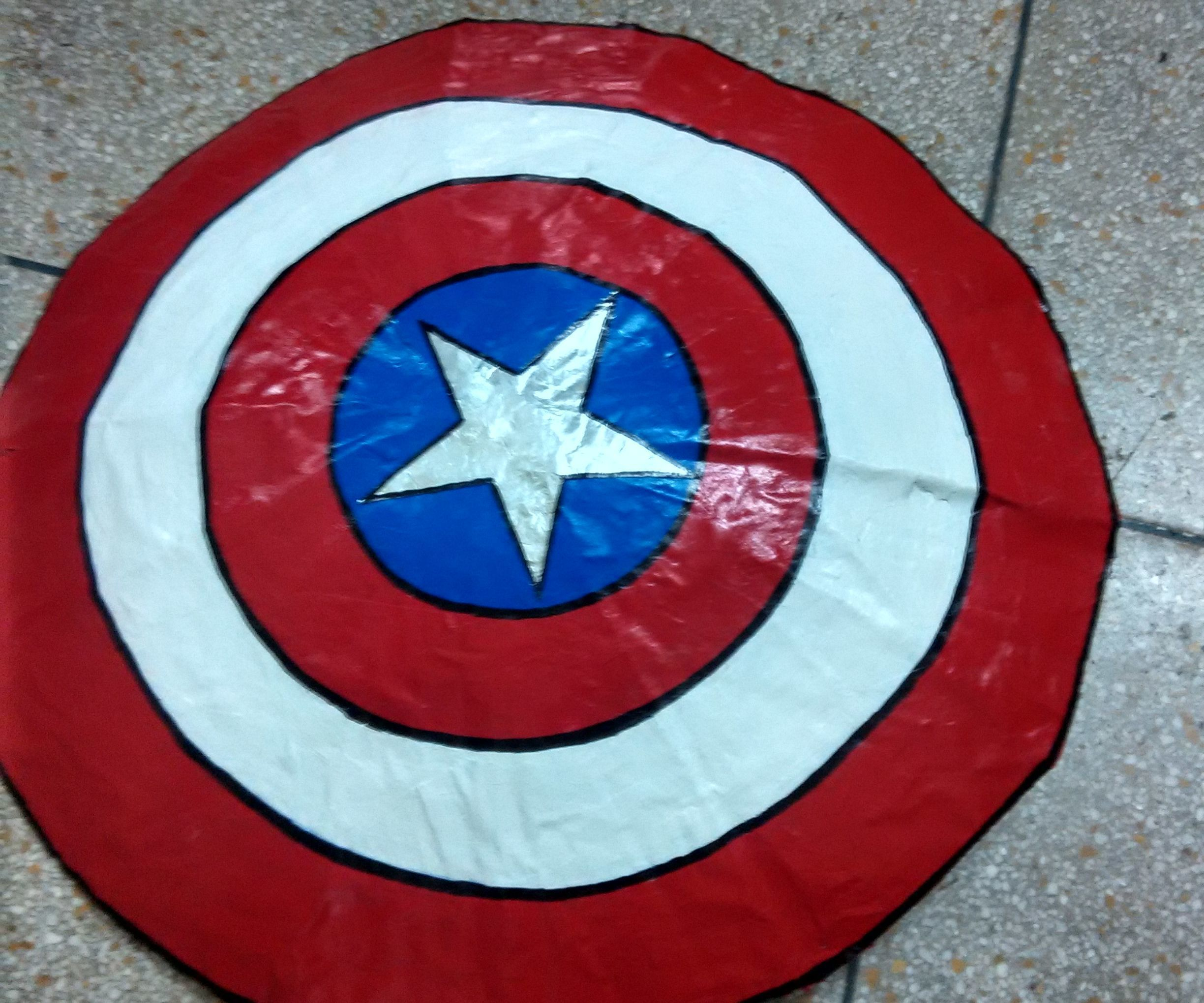 Captain America S Shield Using Cardboard 6 Steps Instructables