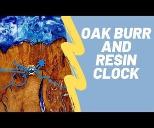 Wood and Resin Clock