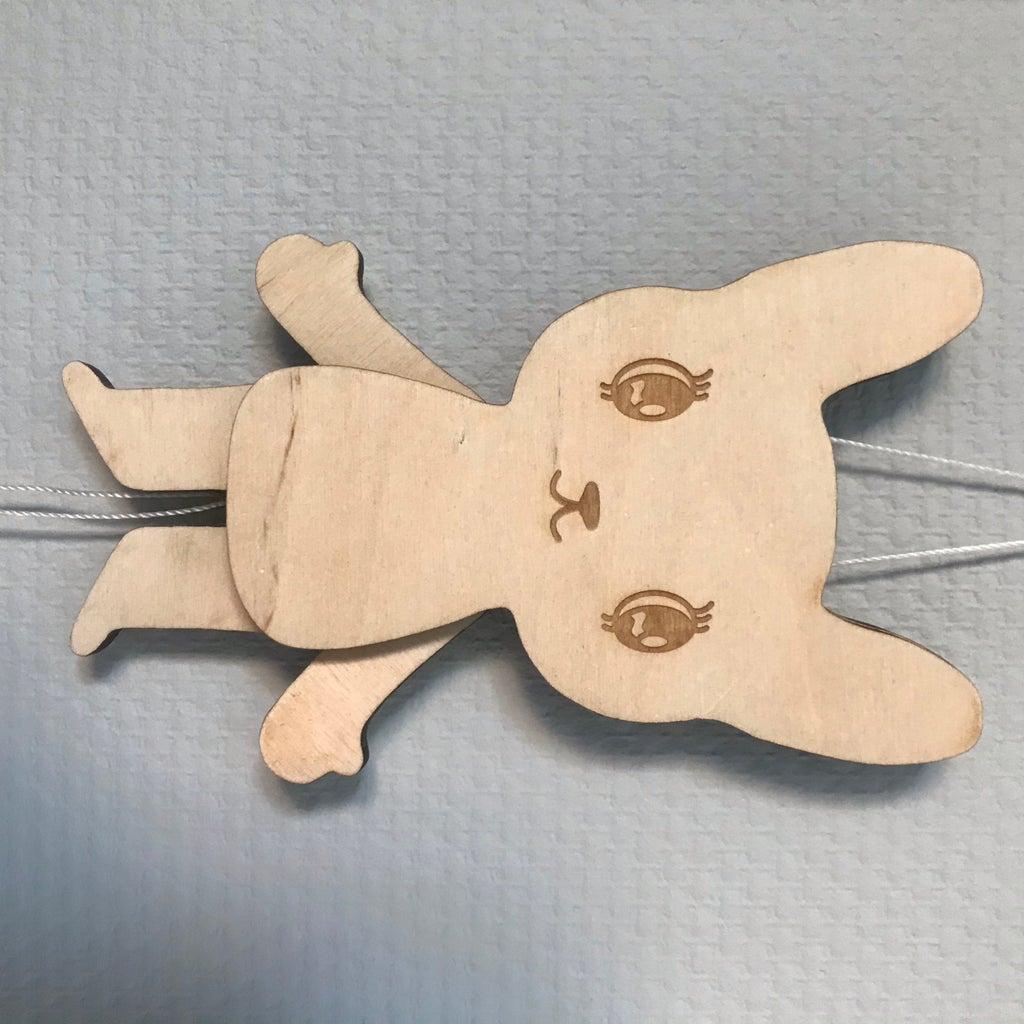 Bunny Pull-puppet