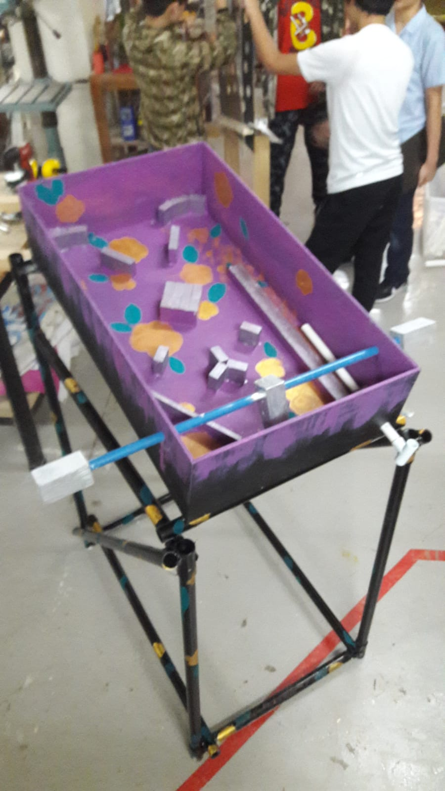 Attaching the Base With the Pinball Machine