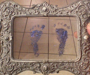 Glittery Baby Footprint Keepsake