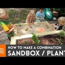 How to make a combination sandbox/planter