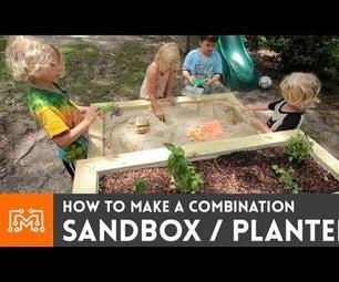 如何制作一个组合沙箱/种植者