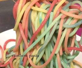 Pastel Rainbow Pasta