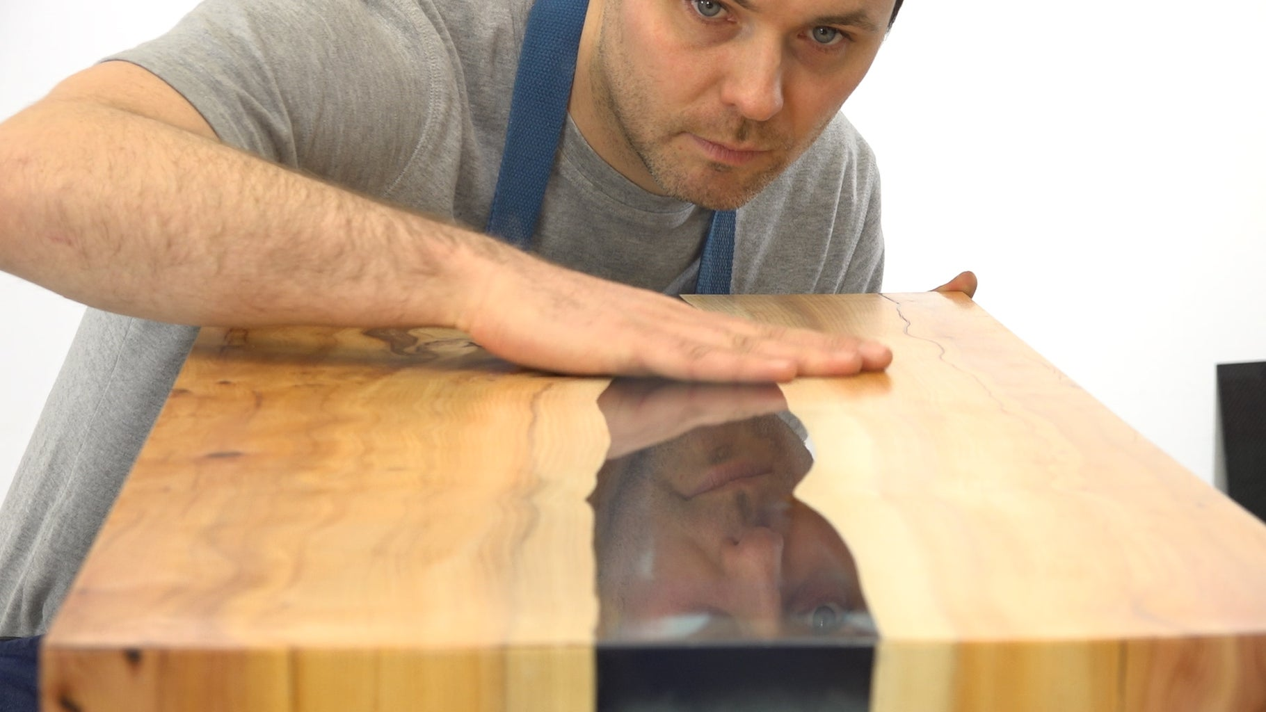 That's How You Make a Live-Edge Epoxy Resin River Table!