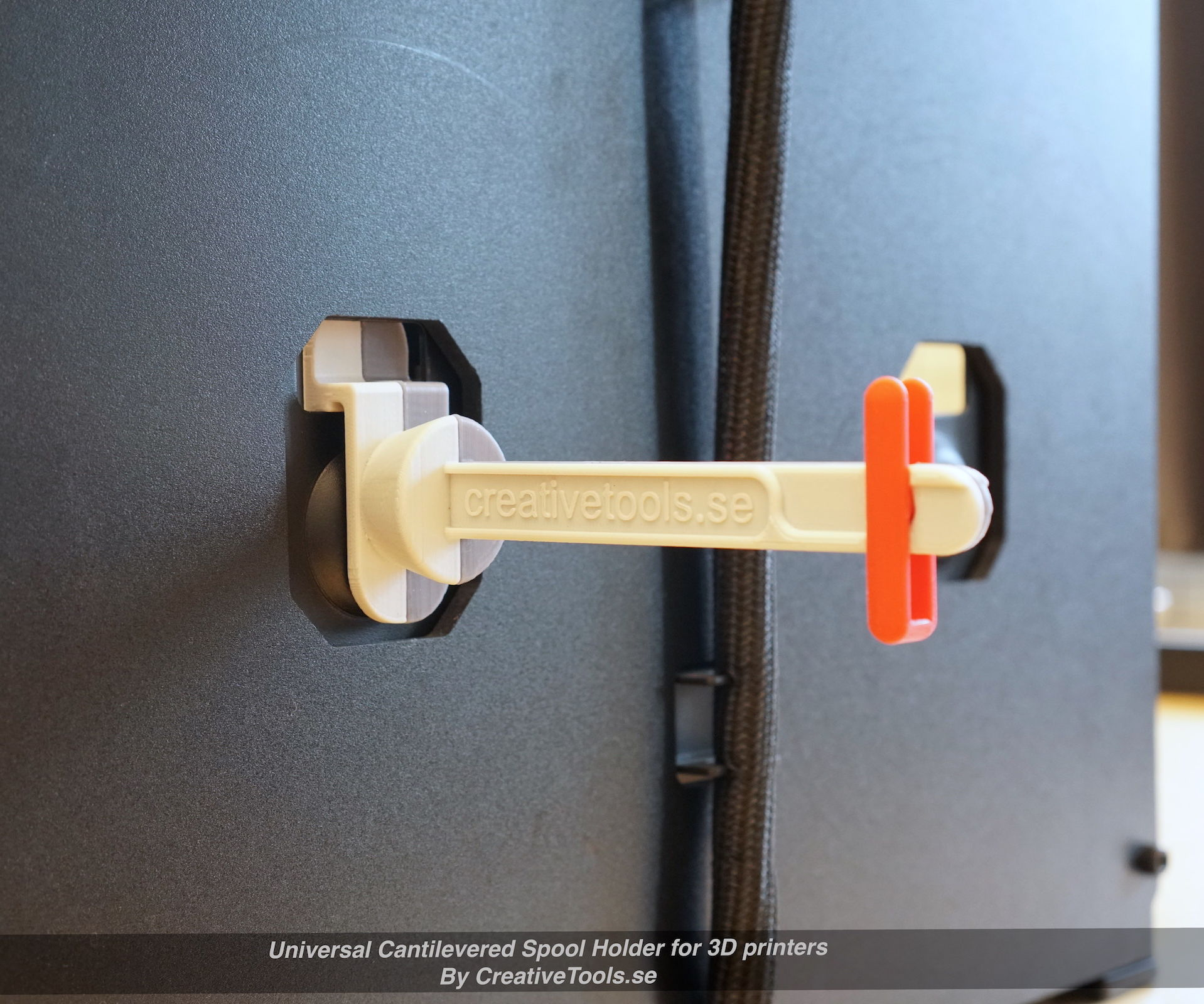 Universal Cantilevered Spool Holder for 3D Printers