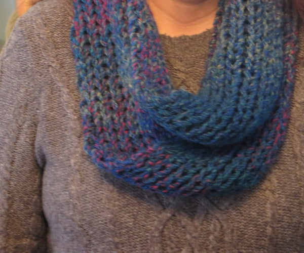 Quick and Cozy Knitted Infinity Scarf