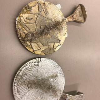 Pewter Cast Coins From Laser Cut Molds