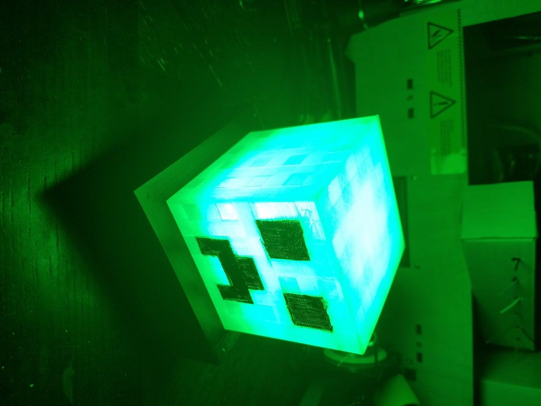 Minecraft Creeper Timed Night Light Lamp - Prototype