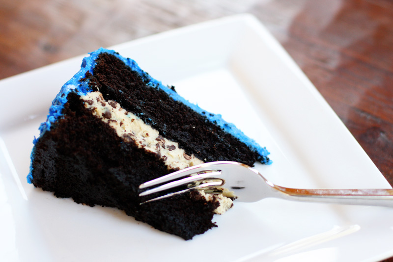 Cookie Monster Birthday Cake with Cookie Dough Filling