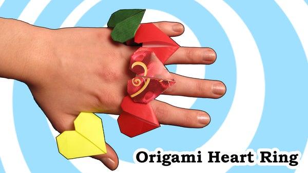 Origami Heart Ring - Video Tutorial