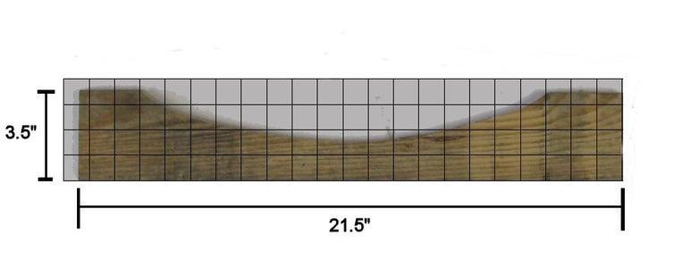 Measure and Mark Bottom Backrest Rail