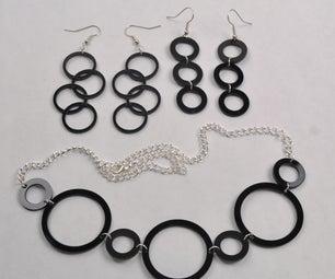 Simple Circle Laser Cut Jewelry