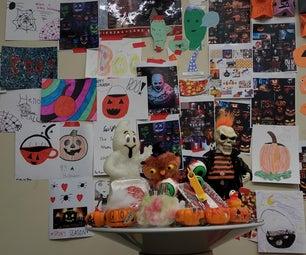 小学教室万圣节墙
