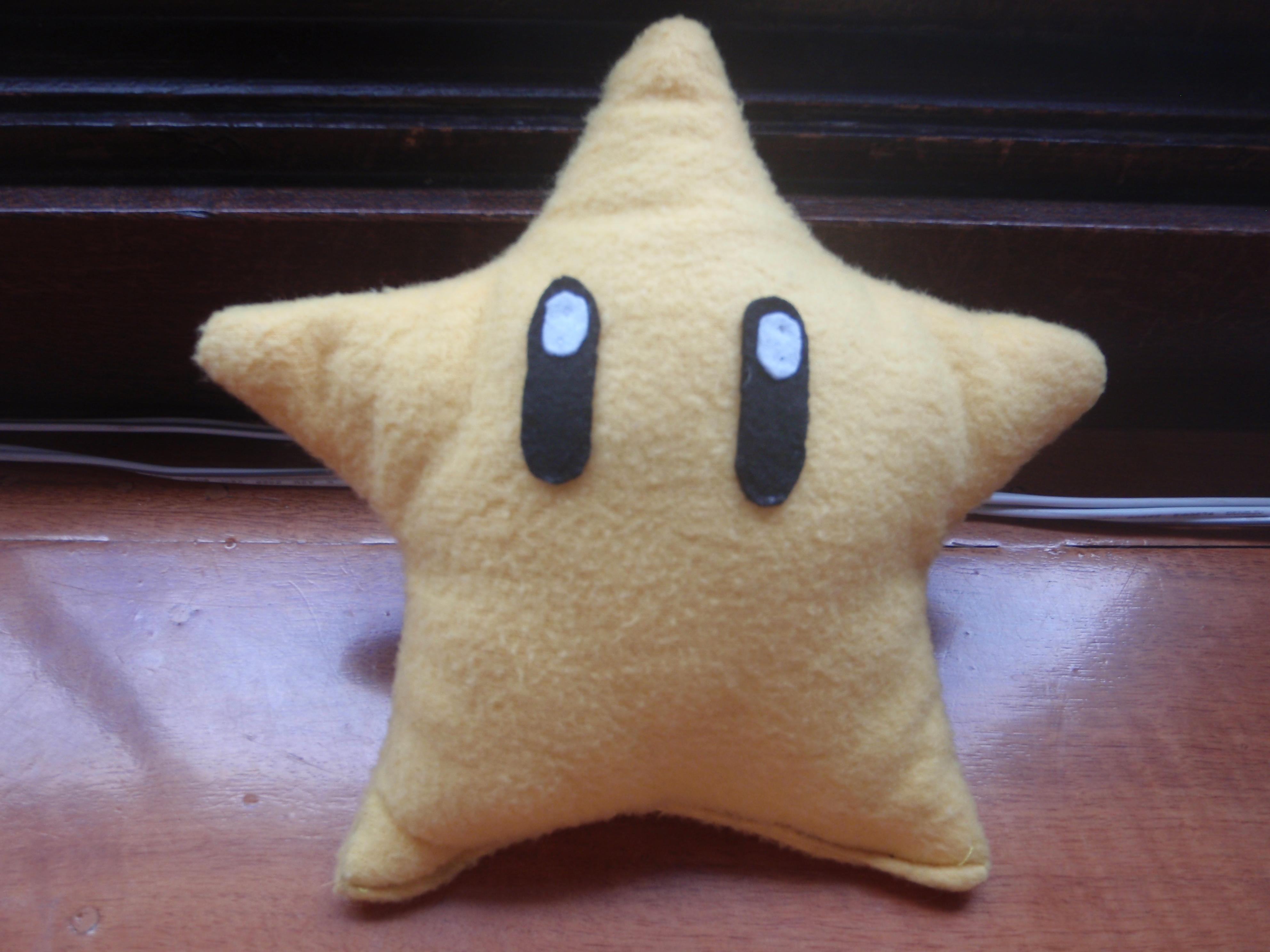 How to make a Mario power star plush
