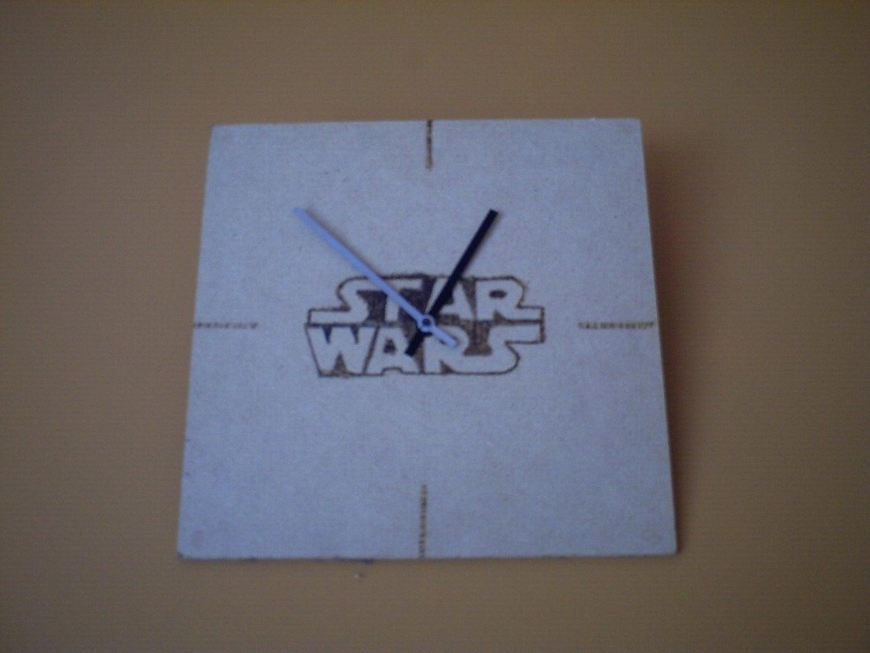 Star Wars Pyrography Clock