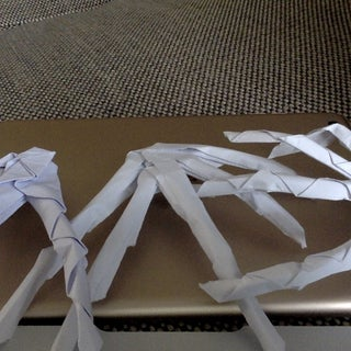 Origami Skeleton Hand