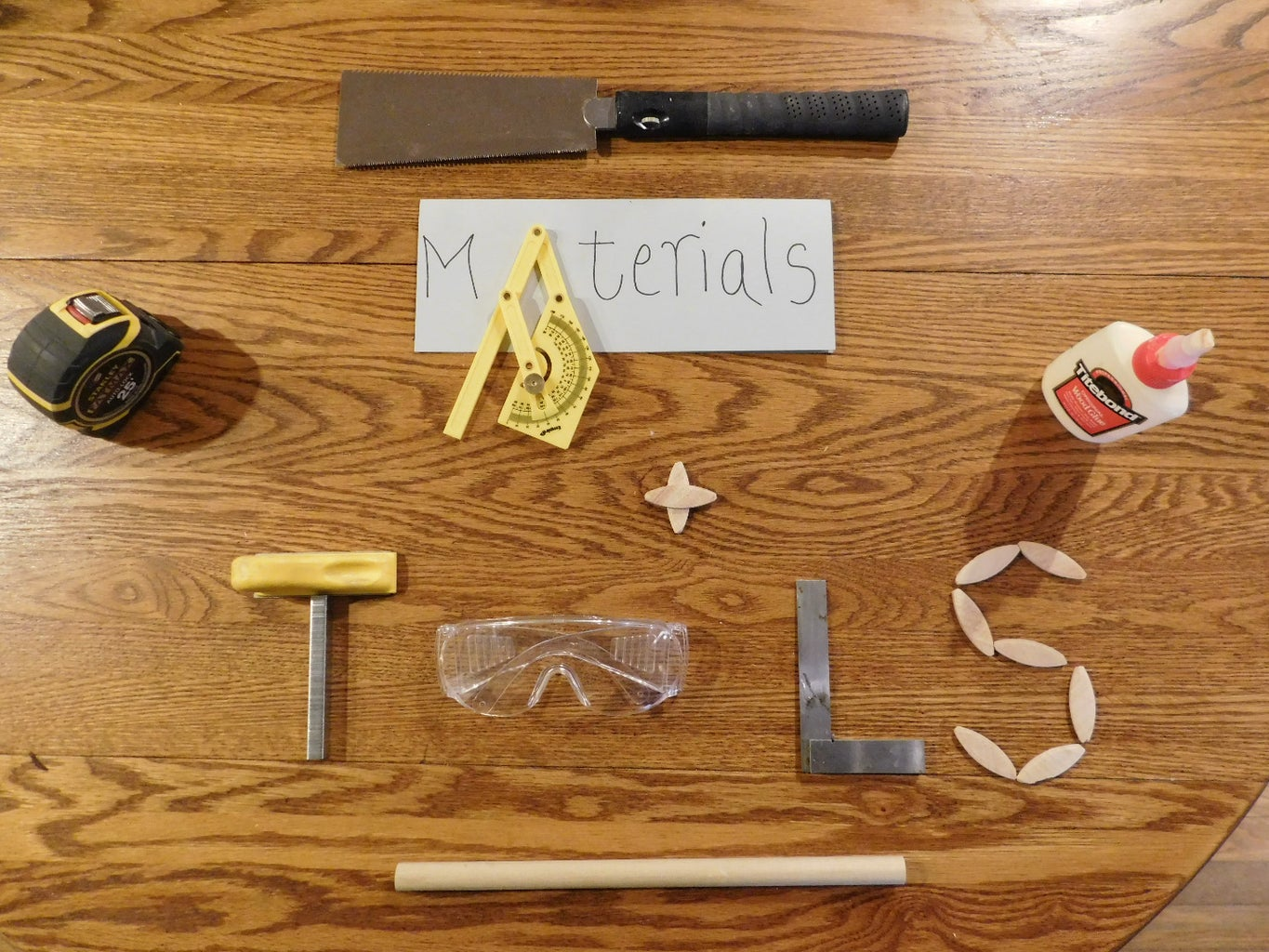 Materials and Tools List