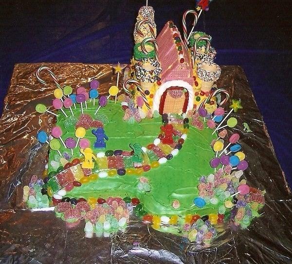 Candy Land Castle Cake