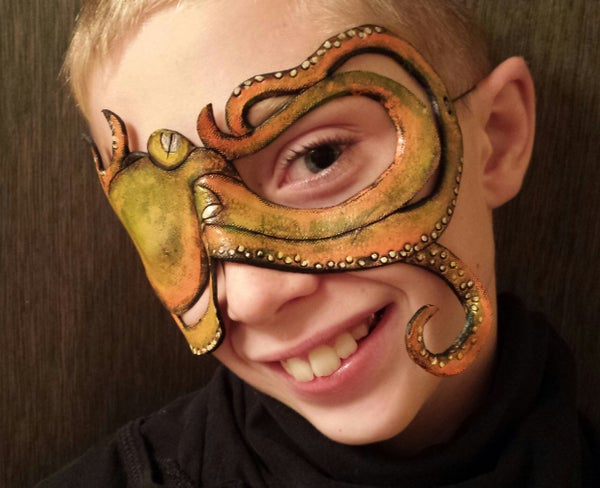 DIY Leather Octopus Pirate Eye Patch Mask