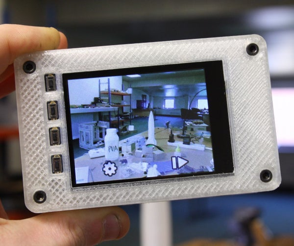 Picture - the 3D Printed Raspberry Pi Camera.