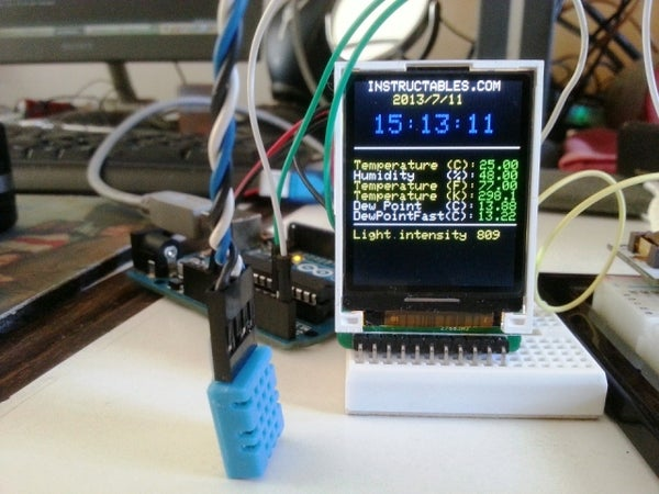 Mini Arduino Environment Monitor  ** UPDATE - Added RTC ***