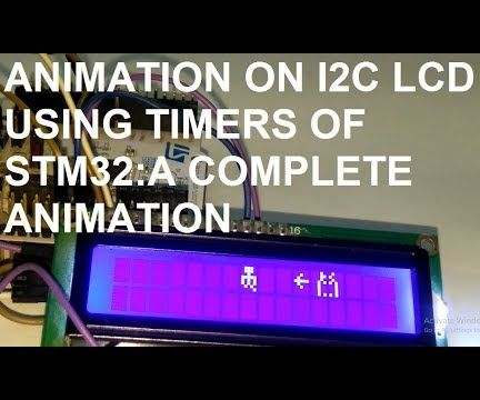Animation on I2C LCD Using STM32L476 Nucleo-64 Board