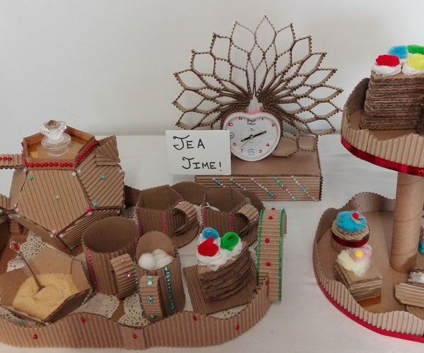 Cardboard Tea Time Tea Set