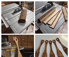 Laser Cut Kitchen Shovel From Firewood