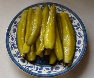 Easy to Make Hot & Sweet Pickle Spears