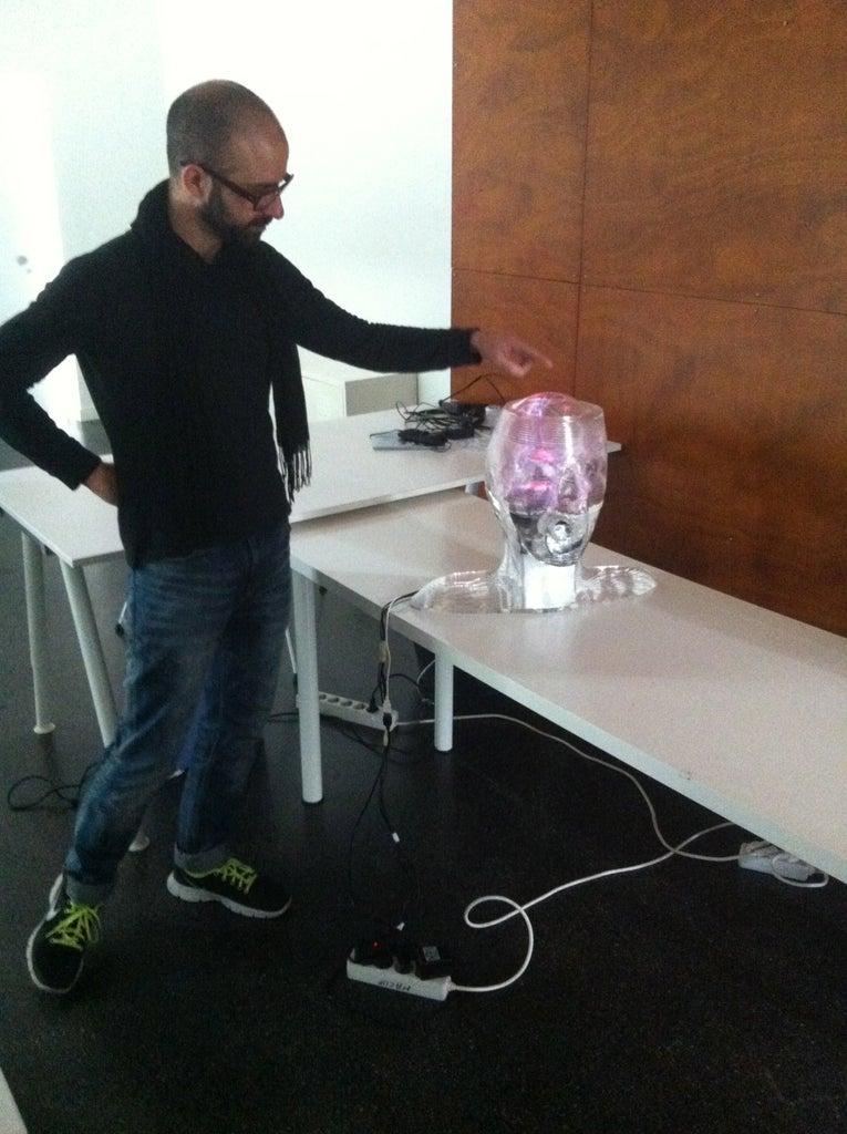 Assembling Plasma Ball, Speakers and Head