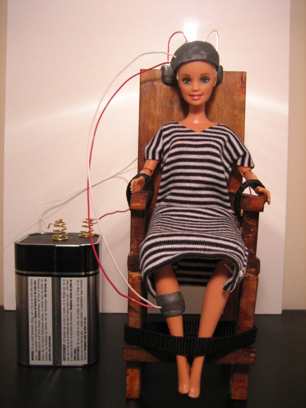 Barbie Doll Electric Chair Science Fair Project