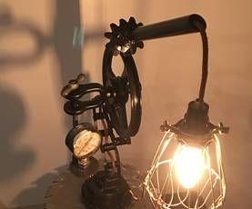 Scrappy 3 Legged Lamp