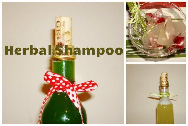 A Homemade Herbal Shampoo