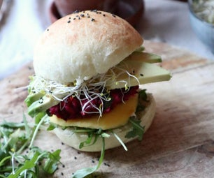 Beetroot Burgers and Burger Buns