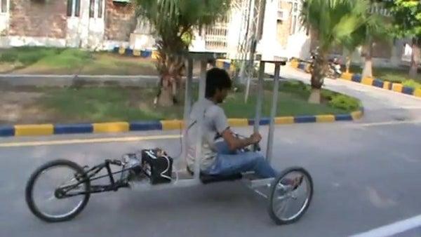 Solar Powered Reverse Trike