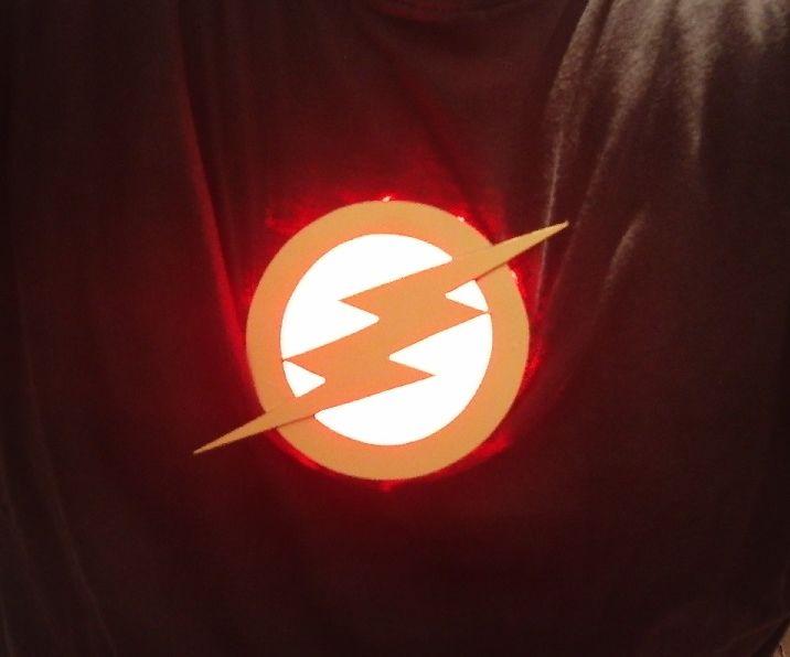 Halloween FLASH LED emblem, for your shirt/suit