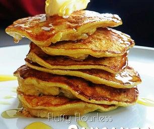10mins Gluten-free Breakfast: Healthy Fluffy Flour-less Pancakes