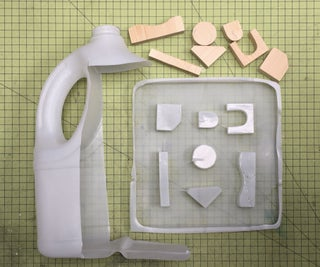 Milk Jug Vacuum Forming - Recycled HPDE Plastic