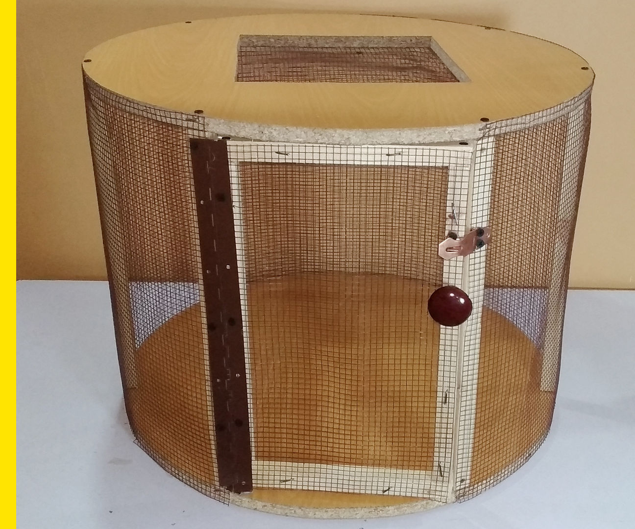 Round Wooden Cage From Old Table
