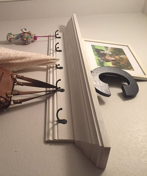 Easy Inexpensive Crown Molding Wall Shelf