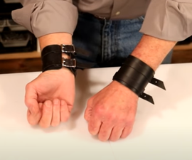Leather Double Wrap Wristbands