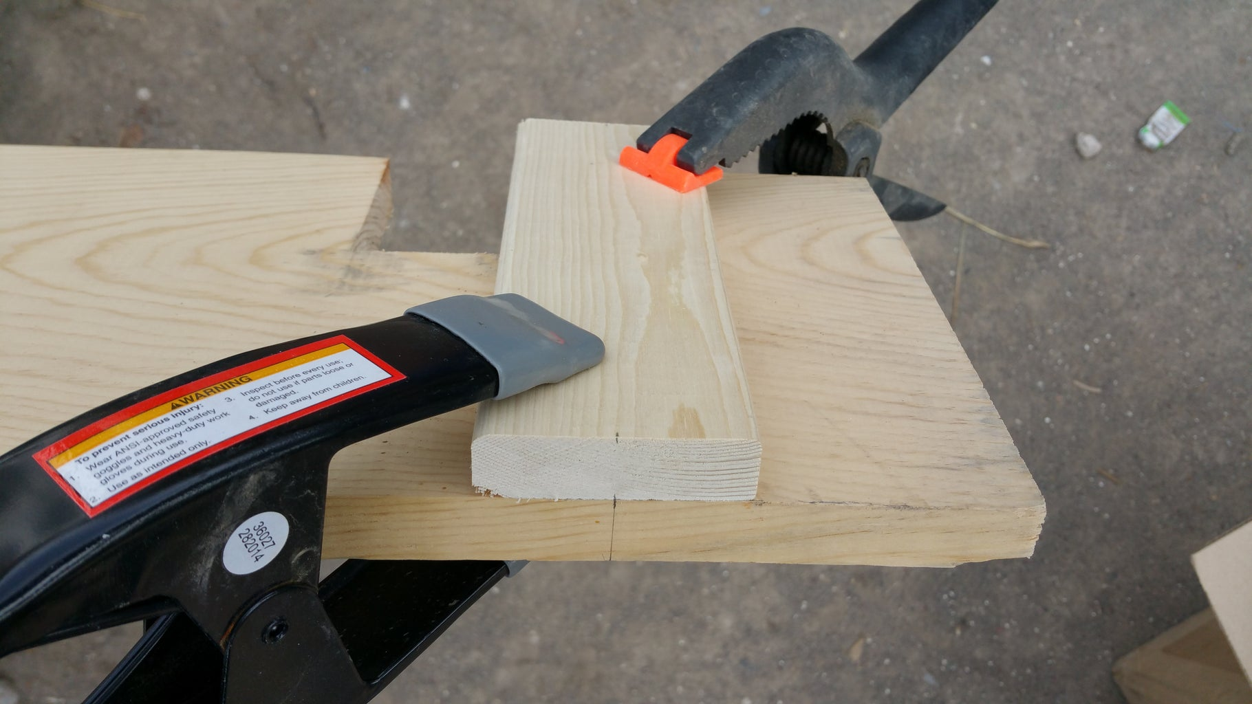Clamping and Drilling for Shelf 1