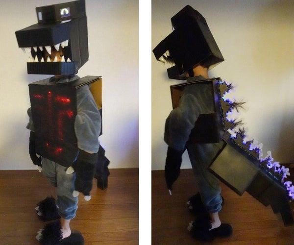 Cardboard Godzilla Cosplay Costume