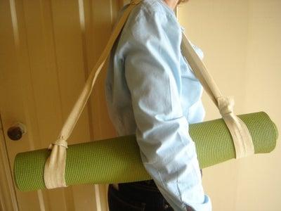 Yoga Mat Holder From Leftover Drape Tie Backs